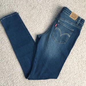 Levi's 710 Super Skinny Jeans w/star print design